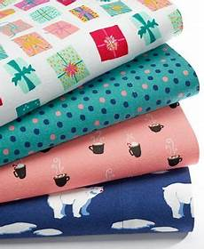 closeout whim by martha stewart collection holiday cotton flannel sheet sets created for macy