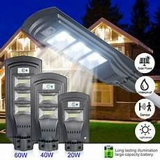 20w 40w 60w led solar powered wall street light pir motion
