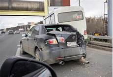 Moscow Russia April 19 Car Crash On