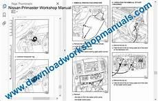small engine service manuals 2003 nissan sentra interior lighting nissan primaster workshop repair manual