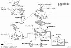 2012 toyota camry engine diagram toyota camry mass air flow sensor meter intake air flow 222040v010 genuine toyota part