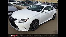new ultra white black 2015 lexus rc 350 awd f sport series 1 review edmonton ab youtube