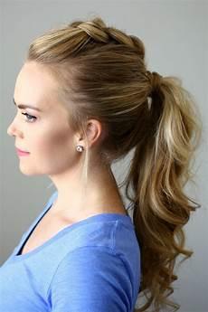 medium ponytail hairstyles effortless ponytail hairstyles 2019 haircuts
