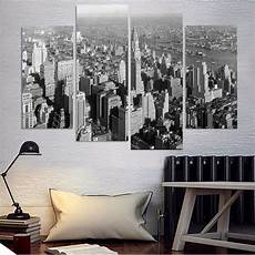 modular wall paintings 4 pieces black and white new york city modern painting canvas pictures