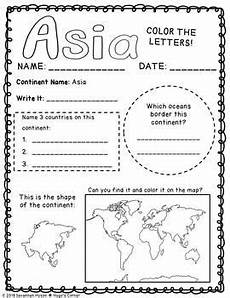 explore our world the continents and oceans worksheets by