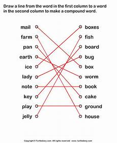 worksheets printable 15561 forming compound words worksheet turtle diary