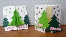 Weihnachtskarten Selbst Basteln - weihnachtskarte mit 3d tannenbaum 3d tree