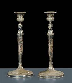 candelieri in argento candelieri in argento con giano bifronte roma xix secolo