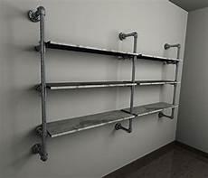 scaffali tubolari cabina armadio ripiani tubi idraulici stile industriale