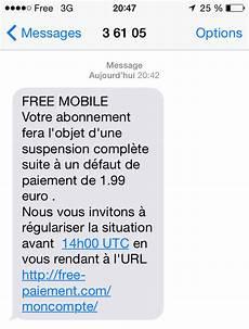 défaut de paiement une arnaque par sms cible les abonn 233 s free mobile