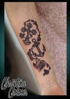 Cross Anchor Tattoos Faith On
