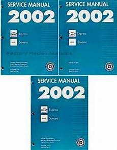 service manuals schematics 1992 gmc vandura 1500 security system 2002 chevy express van gmc savana 1500 2500 3500 factory shop service manual set factory
