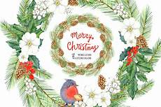 merry christmas watercolor collection in illustrations yellow images creative store