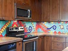 Glass Mosaic Kitchen Backsplash Modern Furniture 2014 Colorful Kitchen Backsplashes Ideas
