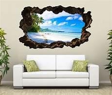 3d wandtattoo wohnzimmer 3d wandtattoo landschaft malediven strand meer bild