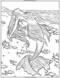 mermaid ausmalbilder fur erwachsene