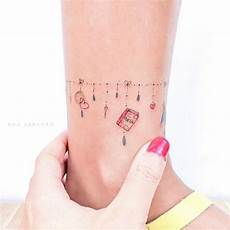 33 delightful ankle bracelet tattoos for tattoos