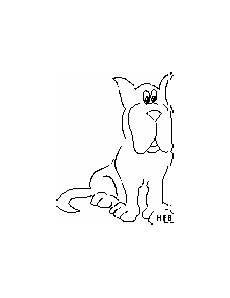 sitzender alter hund ausmalbild malvorlage tiere