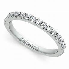 pave diamond wedding ring in platinum 1 3 ctw
