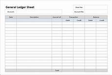 ledger sheet general ledger sheet template double entry bookkeeping