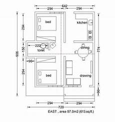 649 sqft low budget 2 bedroom home design 613 sqft 2 bedroom small plot low budget home with free