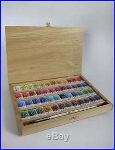 art supply box watercolor paint 48 colors set white
