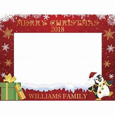 custom winter merry christmas photo booth frame snowflakes