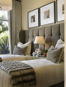 2 Bedroom Ideas For Small Rooms by One Headboard Two Beds Great For A Guest Bedroom