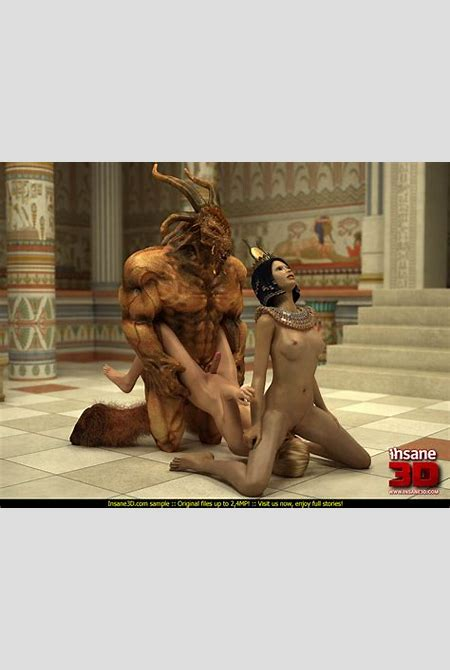 Gorgeous Egyptian Queen and her slave-girl getting banged ...