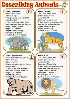 15 free esl describing animals worksheets