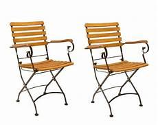 2 x gartenstuhl klappstuhl wien mit armlehne metall und