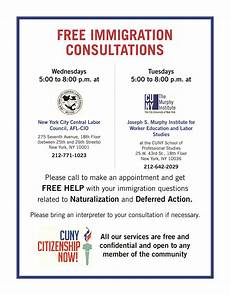 cuny announces free immigration consultation