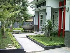 30 Desain Taman Depan Minimalis Sederhana Rumahku Unik