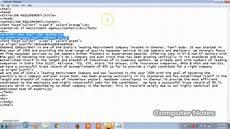 job portal design program code explanations using html tags web designing tutorial youtube