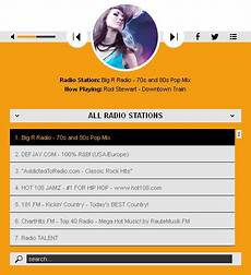 shoutcast icecast html5 radio player with playlist none skin