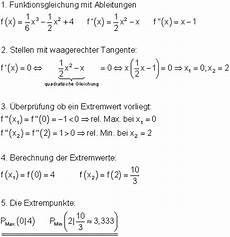 extrempunkte berechnen differentialrechnung mathe brinkmann