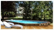 piscine bois octogonale semi enterrée waterclip la piscine bois et alu qui se plie 224 vos envies