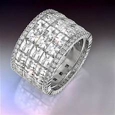 wide band diamond rings