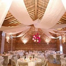 decoration salle de mariage plafond tenture mariage blanc 12m x 80cm pas cher tenture