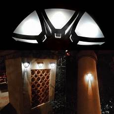 new outdoor solar powered wall led light garden path