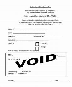free 9 sle payroll direct deposit forms in pdf word