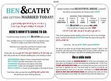 wedding program templates funny wedding programs paper crafts creations