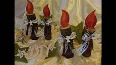 weihnachtsmänner aus holz selber machen diy deko holz kerze f 252 r innen u au 223 enbereich basteln