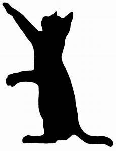 cat 5 silhouette decal sticker custom living room hallway