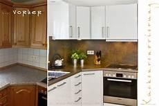 küchenarbeitsplatte neu gestalten einbaukueche renovieren arbeitsplatten rueckwand fronten