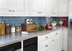 Temporary Kitchen Backsplash How To Install A Backsplash Tutorial Four Generations