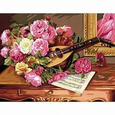 blumiges malen nach zahlen senior romantischer