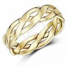 9ct yellow gold ring made celtic wedding ring band 5mm 6mm ebay
