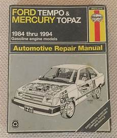 old cars and repair manuals free 1984 mitsubishi space engine control tempo mercury topaz repair haynes manual 36078 1418 1984 1994 ford vintage 3834501418500