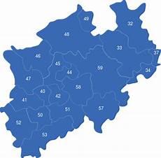 plz karte nrw nordrhein westfalen nrw plz interaktive landkarte